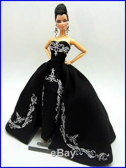 Black Lace Evening Dress Outfit Gown For Silkstone Fashion Royalty FR Candi Doll