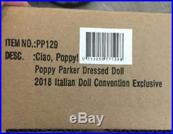 Ciao Poppy Parker NRFB IDC 2018 Convention Exclusives LE 250 withTablegifts