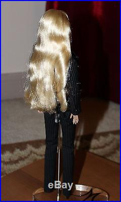 Fashion Royalty long blonde haired doll, in suit, beautiful face