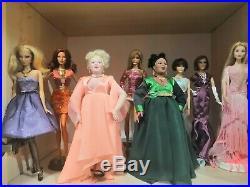 Huge lot of barbie and integrity fashion royalty dolls +bonus huge lot outfits