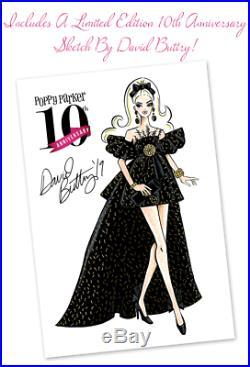 MIDNIGHT DECADENCE Poppy Parker 12 DRESSED DOLL 10th Anniversary W Club NEW