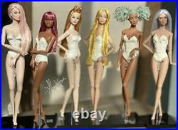 OOAK Set Of 6 Poppy Parker, Ginger, Darla, Tina, Penelope, Loni Fashion Royalty