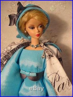 Handmade Blue Swarovski Crystal Jewelry Earrings For Silkstone Doll FR2